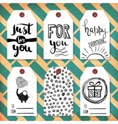 Collection handdrawn in the style of the lovely vector image