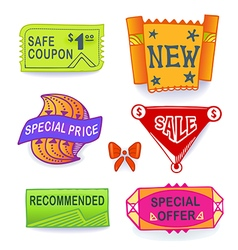 Colored set of promotional sales vector