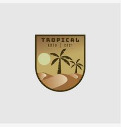 desert logo design vector image