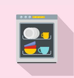 dishwasher icon flat style vector image