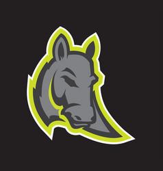 Donkey head sport mascot vector