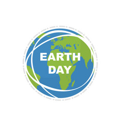 earth day land map happy earth day flat style vector image