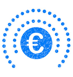 Euro shield sphere grunge icon vector