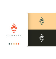 Expedition or compass logo design with simple vector