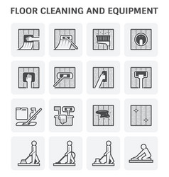 Floor cleaning icon vector