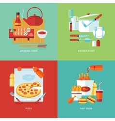 Food and kitchen concept vector