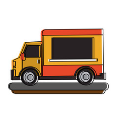 food truck icon image vector image