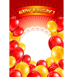 Happy birtday vector image