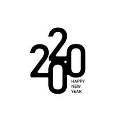 happy new year 2020 text design logo vector image