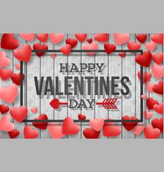 happy valentine day background vector image