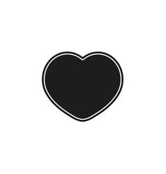 heart love icon - heart valentine day romantic vector image