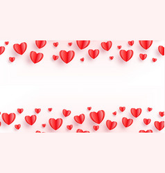 heart seamless background with red paper cut vector image