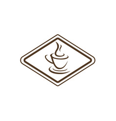 hot coffee logo vector image