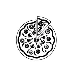 Icon pizza isolated on white background vector