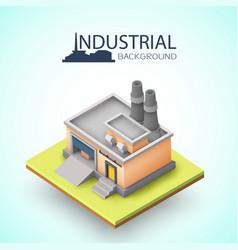 Industrial building background vector