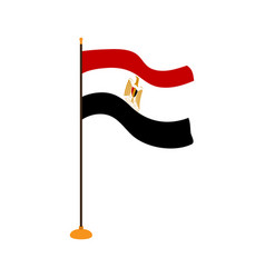 Isolated flag of egypt vector