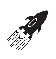 isolated spaceship logo vector image
