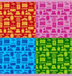 journey seamless patterns vector image