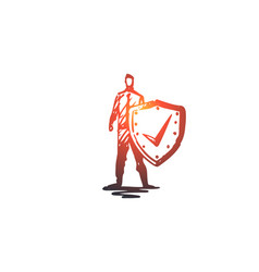 life save shield safety protection concept vector image