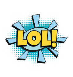 lol comic word vector image