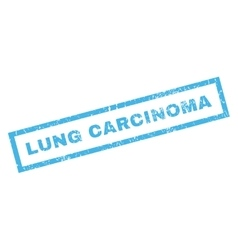 Lung Carcinoma Rubber Stamp vector