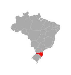Map santa catarina in brazil vector