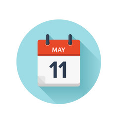 May 11 flat daily calendar icon date and vector