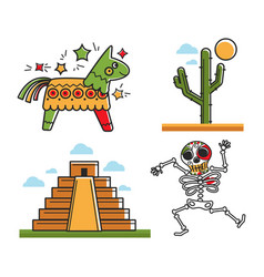 Mexican national symbols vector