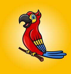 Modern cartoon parrot mascot vector