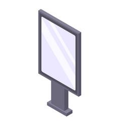 Modern lightbox icon isometric style vector