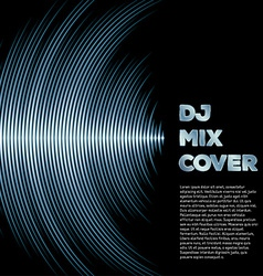 Music cover with waveform as a vinyl grooves vector
