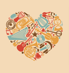 music in the heart vector image