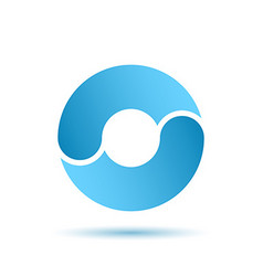 O letter sign water circulation concept vector image