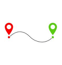 Path icon vector