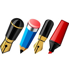 Pen pencil and marker vector