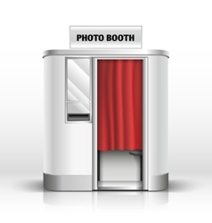 Photo quick service vending machine booth vector image