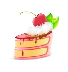 Piece of cake vector
