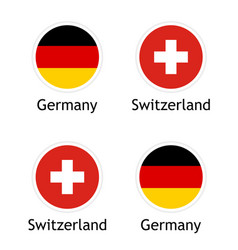 political union switzerland and germany vector image