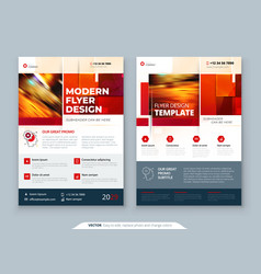 Red flyer template layout design corporate vector