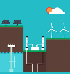 renewable energy concept infographics flat design vector image