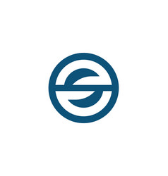 s letter logo design template vector image vector image