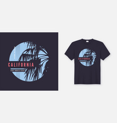 santa monica beach t-shirt and apparel trendy vector image