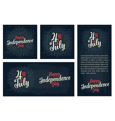 set horizontal vertical square posters happy vector image