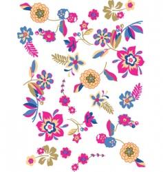 sketch flowers vector image