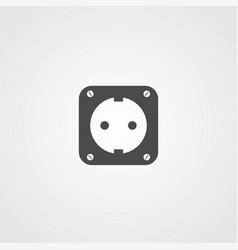 socket icon sign symbol vector image