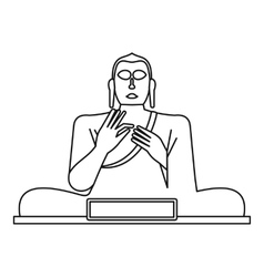 Statue of buddha icon outline style vector
