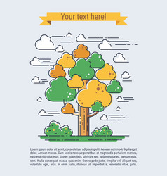 Stylized tree vector