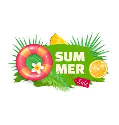 Summer summertime sale banner vector