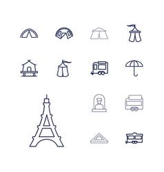 Tourist icons vector