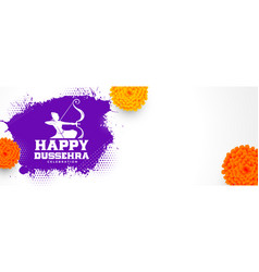 Traditional happy dussehra festival banner vector